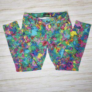 JustFab Skinny Splash Color Jeans
